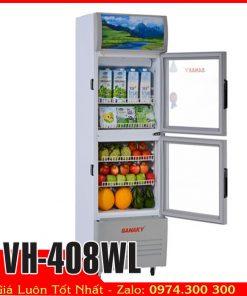Tủ mát 400 lít ướp lạnh bia nước ngọt Sanaky VH-408WL