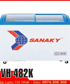 Tủ đông kem kính cong sanaky vh-482k
