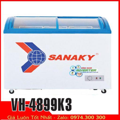 Tủ đông kem kính cong Sanaky inverter t