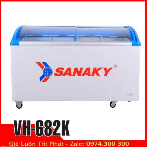 Tủ đông kính cong sanaky 600 lít VH-682K