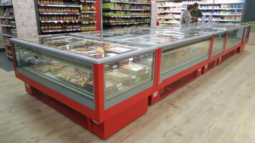 quầy trưng bày thực phẩm đông lạnh siêu thị