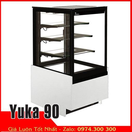 Tủ mát bánh kem kính vuông ngang 90cm yuka90