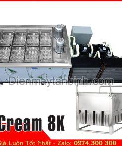 máy làm kem 8 khuôn, sản xuất kem ký kem ống 650 cây/giờ