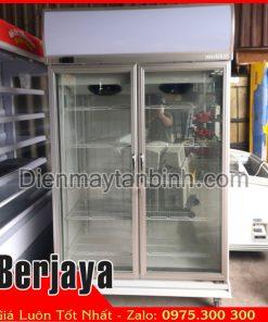Bán tủ đông cũ dạng đứng 2 cửa kính Berjaya 1000 lít