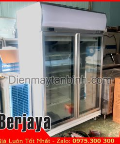 Bán Tủ đông cũ 2 cửa kính berjaya trưng bày thực phẩm đông lạnh