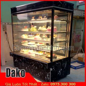 Bán tủ mát bánh sinh nhật tầng 4 mặt kính (Dài 1m5 đá đen)