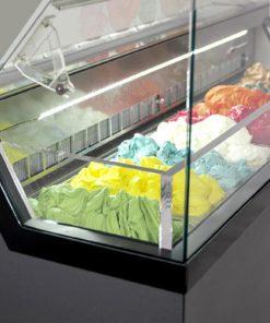 kính tủ đông kem ý có sấy nóng