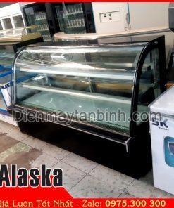Bán tủ bánh kem sinh nhật 3 tầng cũ kính cong Alaska (Dài 1m8)