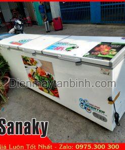 bán tủ đông cũ sanaky 1000 lít 3 cửa inverter tiết kiệm điện