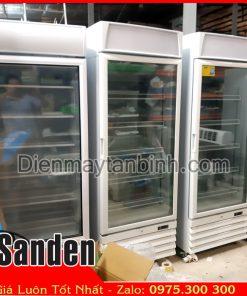 Bán tủ đông đứng Sanden cũ 500 lít cửa kính