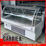 bán tủ mát cũ kính cong trưng bày thịt heo Carrier mỹ dài 2 mét
