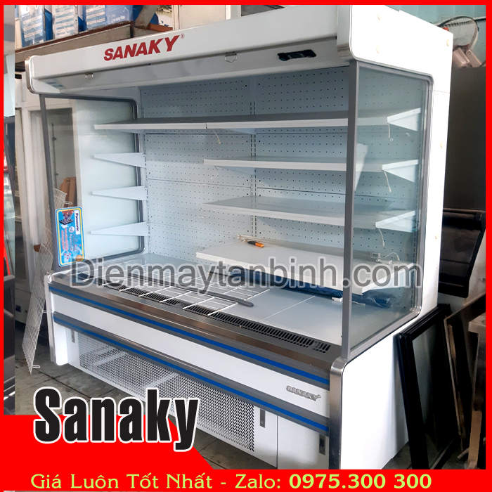 Tủ mát trưng bày trái cây, thực phẩm siêu thị Sanaky