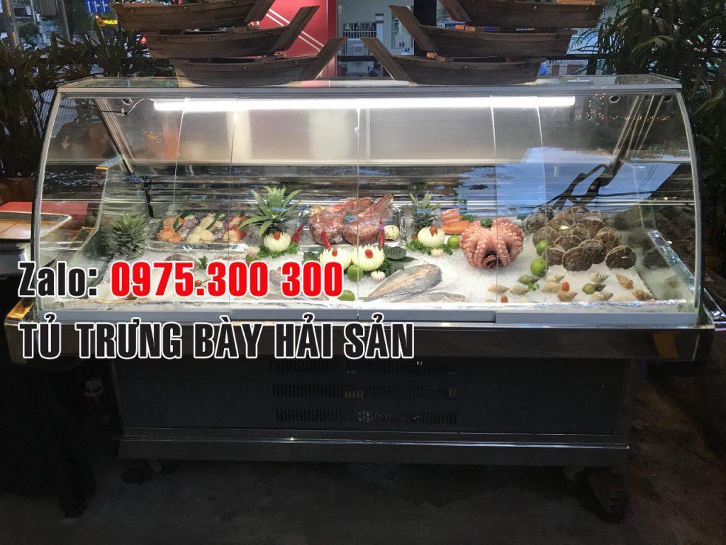 Tủ đông mát trưng bày hải sản